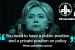 """HRC Transcripts: """"You need to have a public and private position."""""""