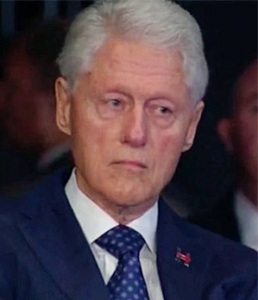 Bill Clinton as he is called on rape and sexual assault on live television. In a presidential debate.