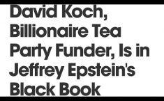 Epstein Murder Money Trail Leads To Billionaire David Koch—Who Then Quickly Dies