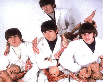 outtake from the Beatles infamous butcher block album cover sessions for yesterday today album www.morethings.com