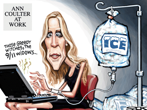Coulter's attack on 9/11 widows questioning official story
