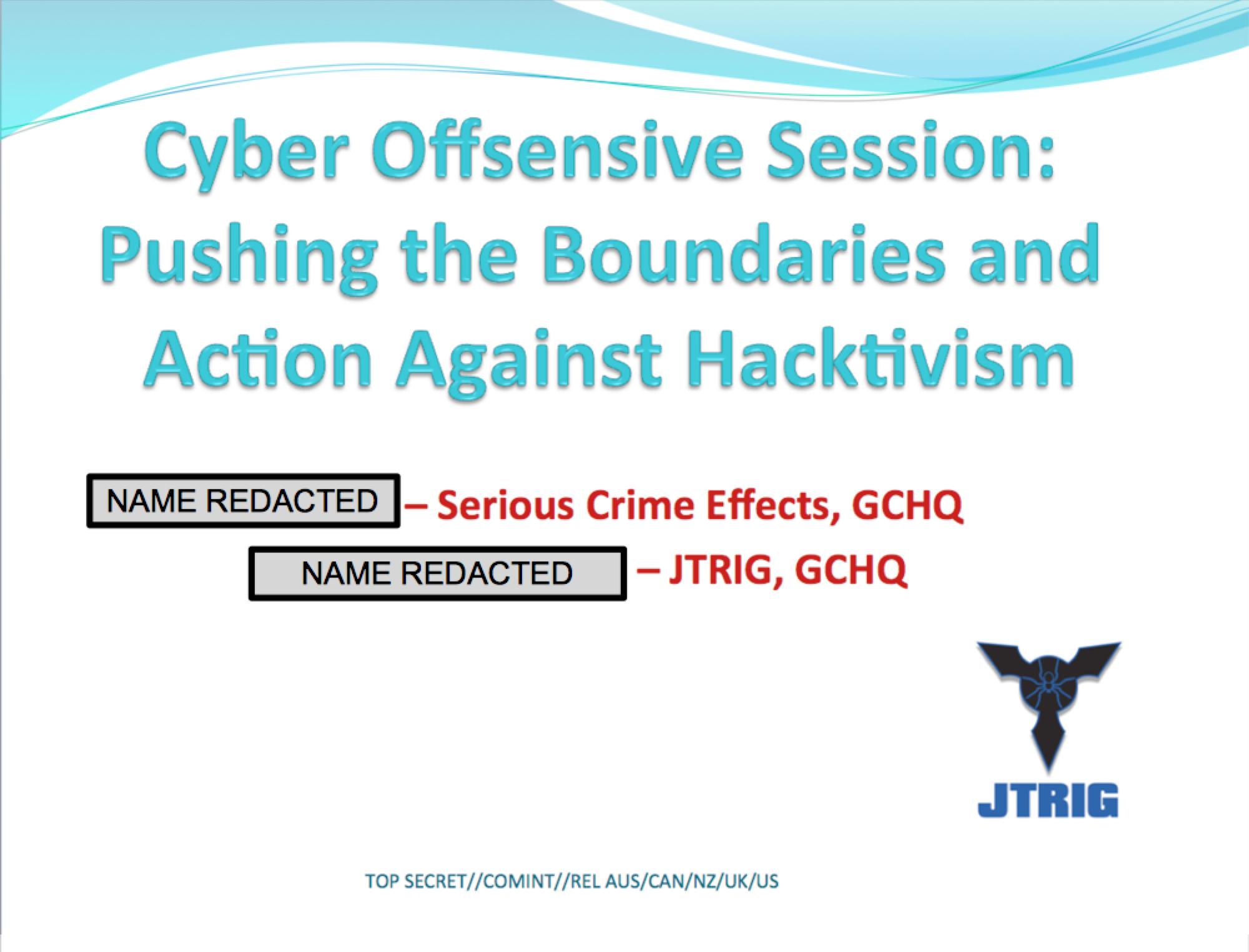 Pushing the Boundaries Against Hactivism